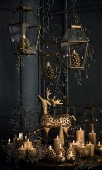 Wonderful Black Christmas Decorations Ideas That Amaze You 38