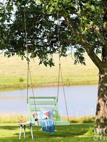 Creative Swing Chairs Garden Ideas That Looks Adorable 31