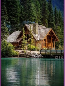 Affordable Small Log Cabin Ideas With Awesome Decoration 10