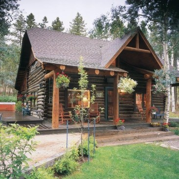 Affordable Small Log Cabin Ideas With Awesome Decoration 17