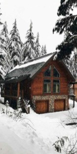 Affordable Small Log Cabin Ideas With Awesome Decoration 19