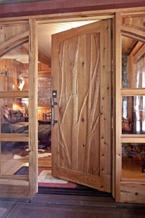 Affordable Small Log Cabin Ideas With Awesome Decoration 32