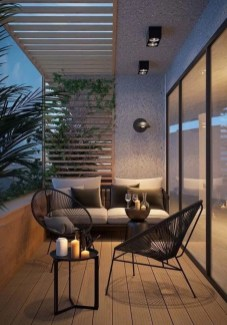 Comfy Apartment Balcony Decorating Ideas That Looks Awesome 22