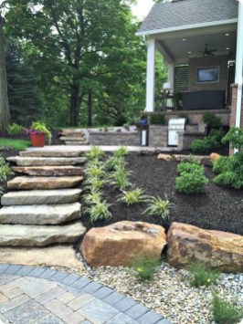 Delicate Garden Landscaping Design Ideas Using Rocks Stone To Try 01