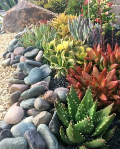 Delicate Garden Landscaping Design Ideas Using Rocks Stone To Try 19