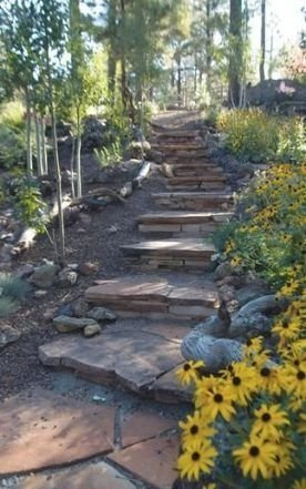 Delicate Garden Landscaping Design Ideas Using Rocks Stone To Try 39