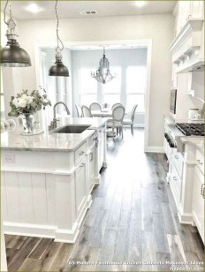 Elegant Farmhouse Kitchen Cabinet Makeover Design Ideas That Very Cozy 02