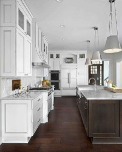 Elegant Farmhouse Kitchen Cabinet Makeover Design Ideas That Very Cozy 03