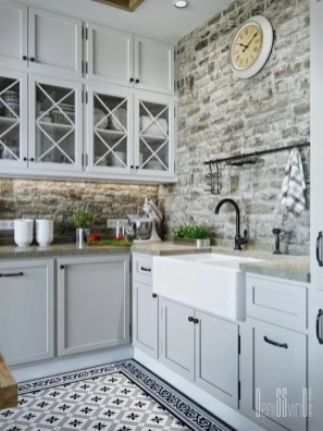 Elegant Farmhouse Kitchen Cabinet Makeover Design Ideas That Very Cozy 09