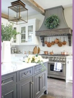 Elegant Farmhouse Kitchen Cabinet Makeover Design Ideas That Very Cozy 31