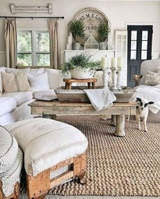 Gorgeous Farmhouse Living Room Makeover Decor Ideas To Try Asap 03