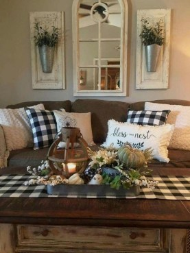Gorgeous Farmhouse Living Room Makeover Decor Ideas To Try Asap 17