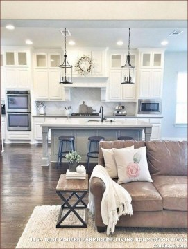 Gorgeous Farmhouse Living Room Makeover Decor Ideas To Try Asap 33