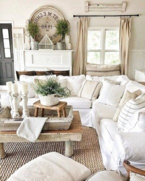 Gorgeous Farmhouse Living Room Makeover Decor Ideas To Try Asap 34