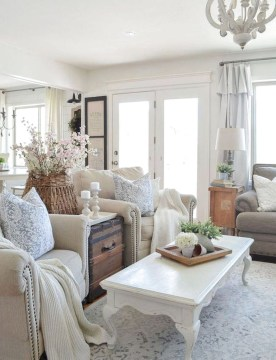 Gorgeous Farmhouse Living Room Makeover Decor Ideas To Try Asap 35
