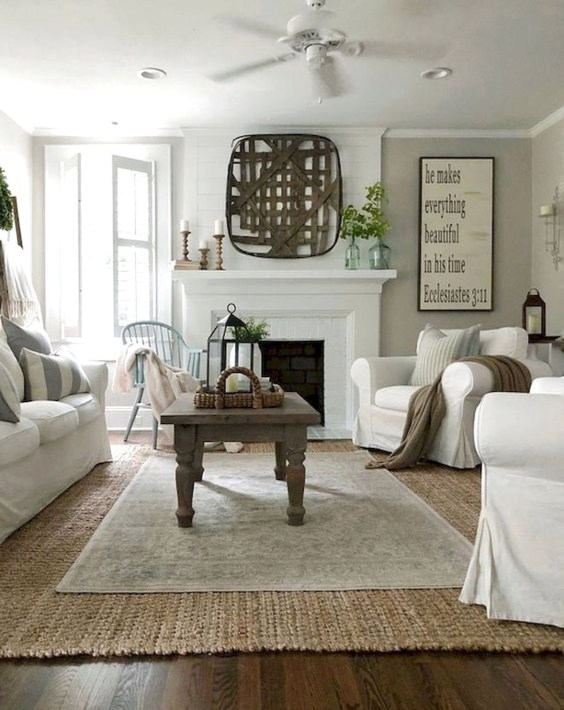 Gorgeous Farmhouse Living Room Makeover Decor Ideas To Try Asap 39