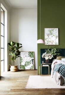 Sophisticated Home Decoration Ideas With Green Paint Combination 02