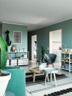Sophisticated Home Decoration Ideas With Green Paint Combination 30