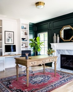 Sophisticated Home Decoration Ideas With Green Paint Combination 38