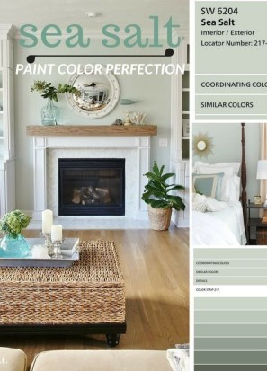 Sophisticated Home Decoration Ideas With Green Paint Combination 45