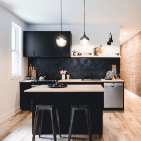 Stylish Black Kitchen Interior Design Ideas For Kitchen To Have Asap 28