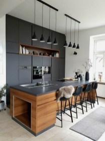 Stylish Black Kitchen Interior Design Ideas For Kitchen To Have Asap 32