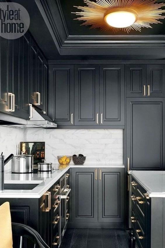 Stylish Black Kitchen Interior Design Ideas For Kitchen To Have Asap 38