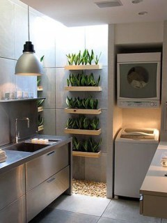 Inexpensive Tiny Laundry Room Design Ideas With Nature Touches 05
