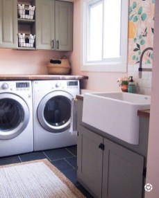 Inexpensive Tiny Laundry Room Design Ideas With Nature Touches 28