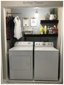 Inexpensive Tiny Laundry Room Design Ideas With Nature Touches 30