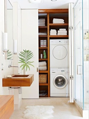 Inexpensive Tiny Laundry Room Design Ideas With Nature Touches 33