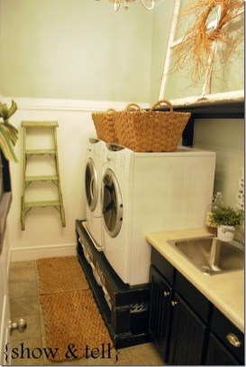 Inexpensive Tiny Laundry Room Design Ideas With Nature Touches 35