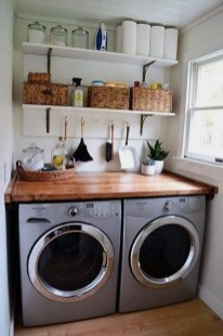 Inexpensive Tiny Laundry Room Design Ideas With Nature Touches 41