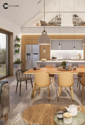 Pretty Scandinavian House Design Ideas With Wood Characteristics To Try 34