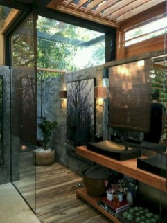 Sophisticated Outdoor Bathroom Design Ideas That Feel Like A Vacation 04