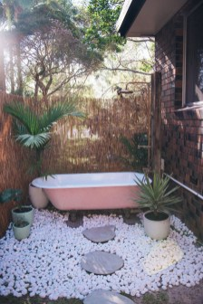 Sophisticated Outdoor Bathroom Design Ideas That Feel Like A Vacation 40