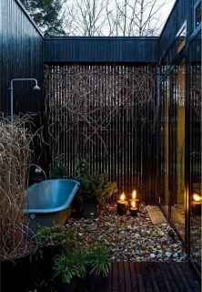 Sophisticated Outdoor Bathroom Design Ideas That Feel Like A Vacation 46