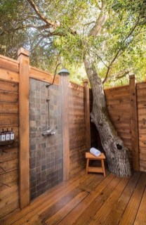 Sophisticated Outdoor Bathroom Design Ideas That Feel Like A Vacation 49