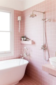 Sophisticated Pink Colors Design Ideas To Transform Your Bathroom 01
