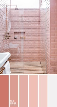 Sophisticated Pink Colors Design Ideas To Transform Your Bathroom 09
