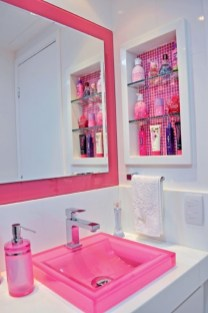 Sophisticated Pink Colors Design Ideas To Transform Your Bathroom 14
