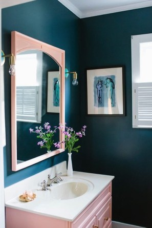 Sophisticated Pink Colors Design Ideas To Transform Your Bathroom 26