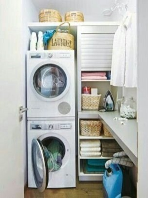 Best Tiny Laundry Spaces Design Ideas That So Functional 16
