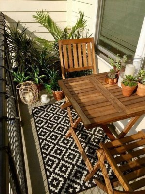 Comfy Balcony Design Ideas To Try Right Now 43