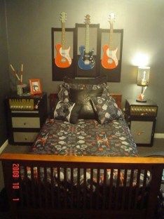 Cozy Bedroom Design Ideas With Music Themed That Everyone Will Like It 36