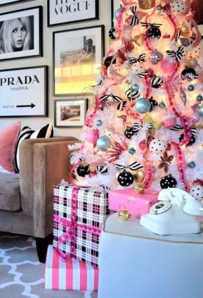 Pretty Pink Winter Tree Decorating Ideas That Looks So Awesome 08