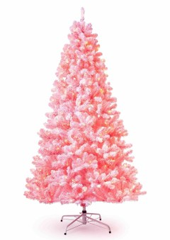 Pretty Pink Winter Tree Decorating Ideas That Looks So Awesome 11