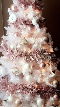 Pretty Pink Winter Tree Decorating Ideas That Looks So Awesome 18