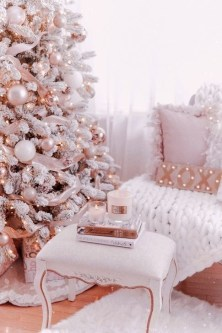 Pretty Pink Winter Tree Decorating Ideas That Looks So Awesome 23