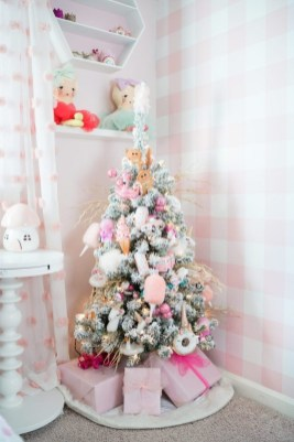 Pretty Pink Winter Tree Decorating Ideas That Looks So Awesome 25